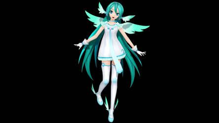 MMD - PDX Angel Miku Remake + DL by Nala-Chan-07