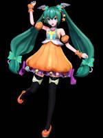 MMD - PDX Sweet Pumpkin Miku - Happy Halloween!!! by Nala-Chan-07