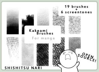 Kakeami Brushes for Manga by N-A-R-I