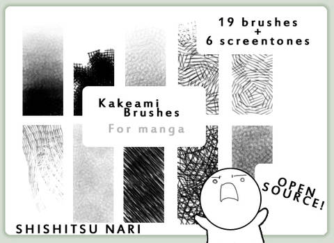 Kakeami Brushes for Manga