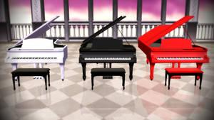 MMD Grand Piano Accessory Download [PMX format]