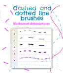 Dashed and Dotted Line Brushes