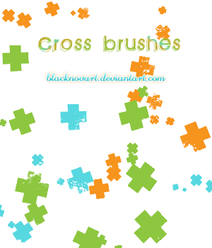 Cross brushes by blacknovART