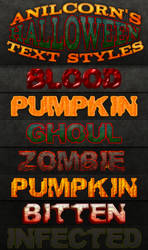 AnilCorn's Halloween Text Styles by AnilCorn