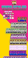 LGBTQ+ Pride Text Styles