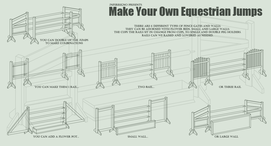 Make Your Own Horse Jumps By Jnferrigno On Deviantart
