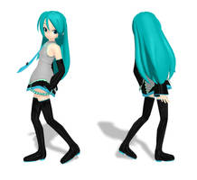 MMd Download - Long Haired Miku by Kandy0513
