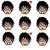 Oshitari Emoticons by kanariya