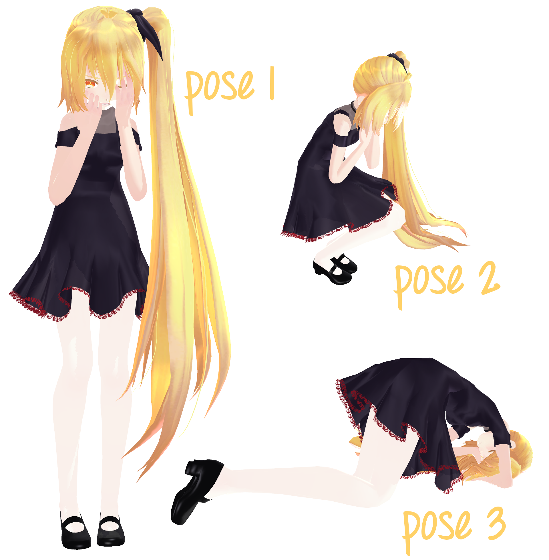 [MMD DL] Crying Poses by Fabulous-Goitsu