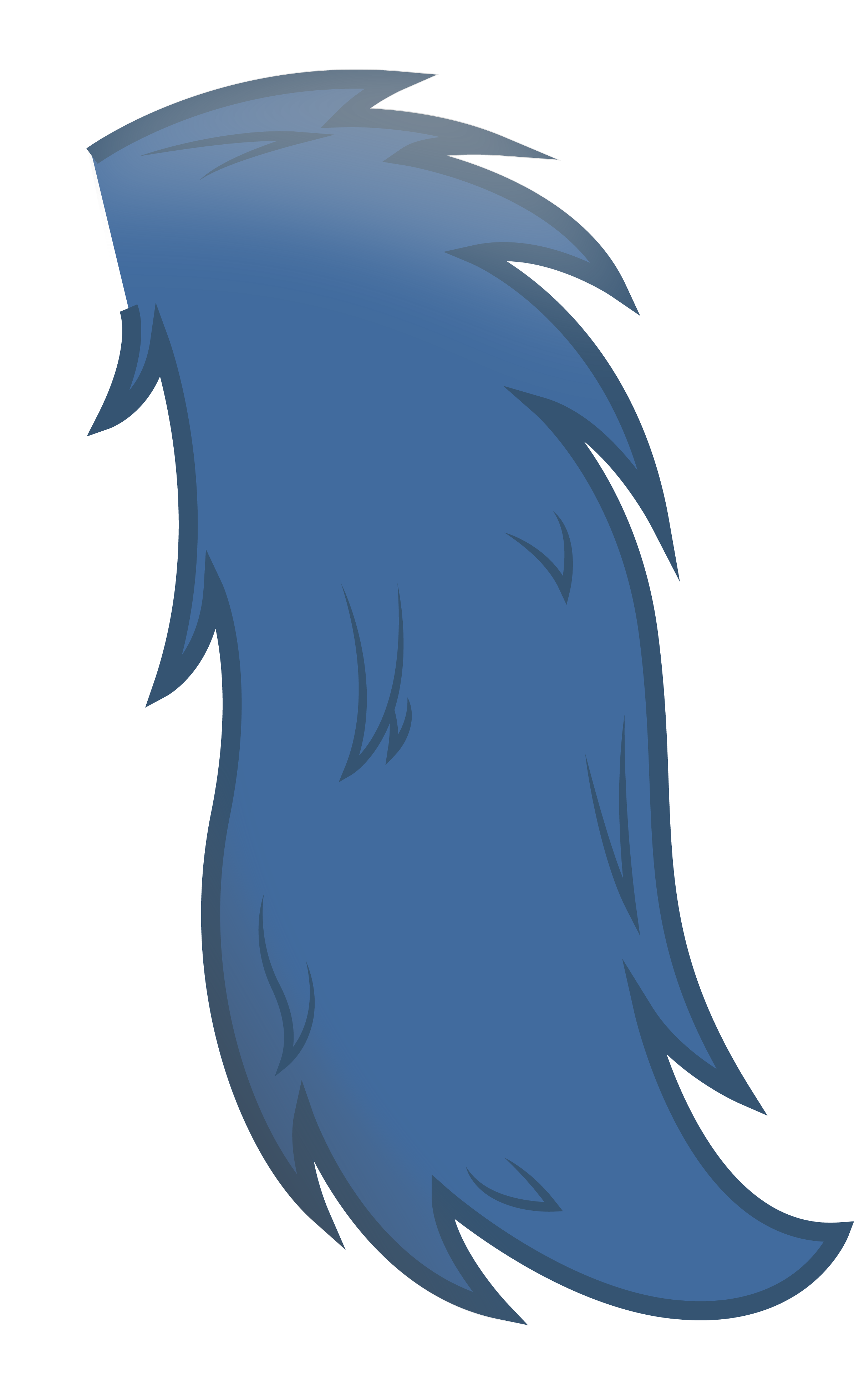 fluffy tail by Swivel-Zimber