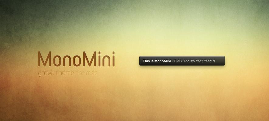 MonoMini Growl Theme