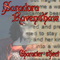 Saradora Ravenshaw - Character Sheet by SaradoraArt