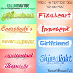 Pack Textos png