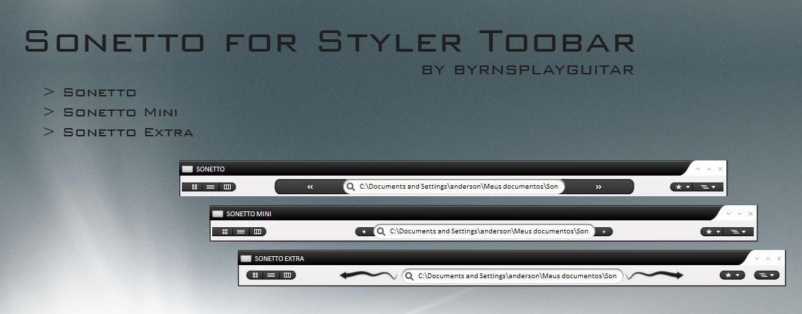 Sonetto Styler Toolbar by burnsplayguitar