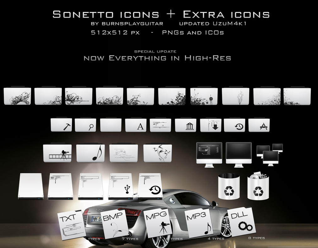 Sonetto Icons and Extras by burnsplayguitar