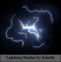 Lightning Brushes by Kakefat by kakefat
