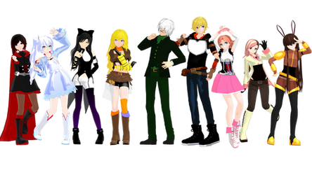 (MMDxRWBY) RWBY Volume 1 Pack (+DL) by naruchan101
