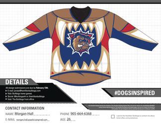 My Hamilton Bulldogs Jersey Design Submission