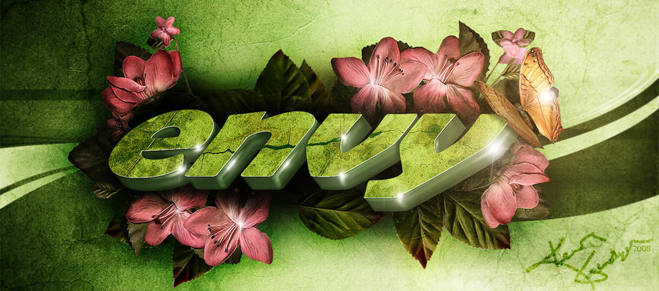 Envy 3D Text Wallpaper by thekellz