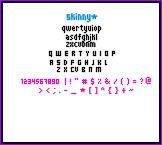 Skinny Font by getinline