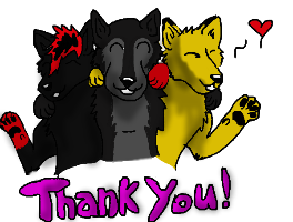 Wolf Prime,Serenity, and Radioactive sayThank you! by Wolf--Prime