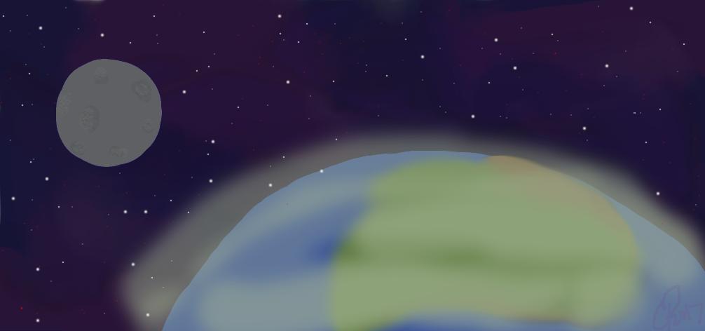 Earth and Moon by Wolf--Prime