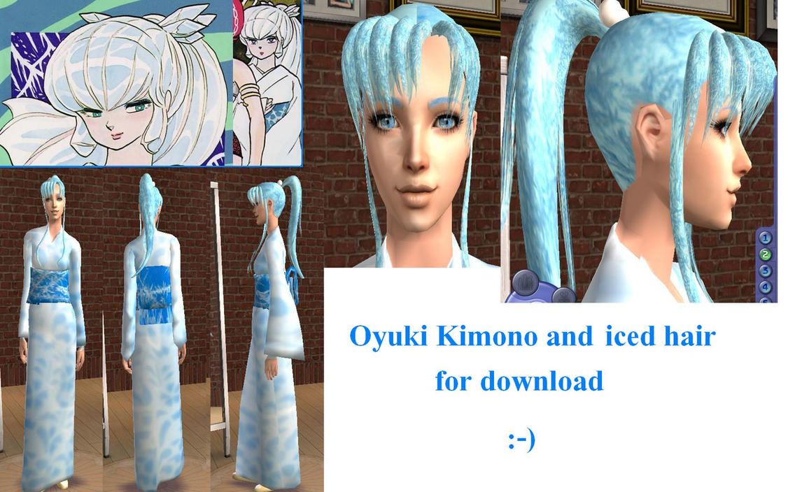 Oyuki from Urusei Yatsura Sims 2 Download by ~Cinzia-chan on deviantART