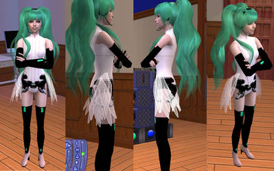Miku Append improved outfit - Sims 2 Download by Cinzia-chan