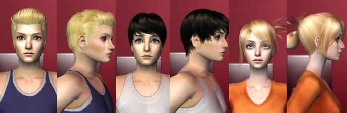Sims 2 request Download - Berhold, Reiner, Annie by Cinzia-chan