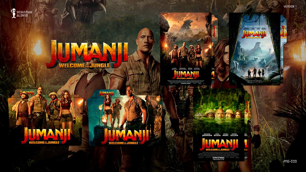 Jumanji Welcome to the Jungle (2017) Folder Icon by sebasmgsse