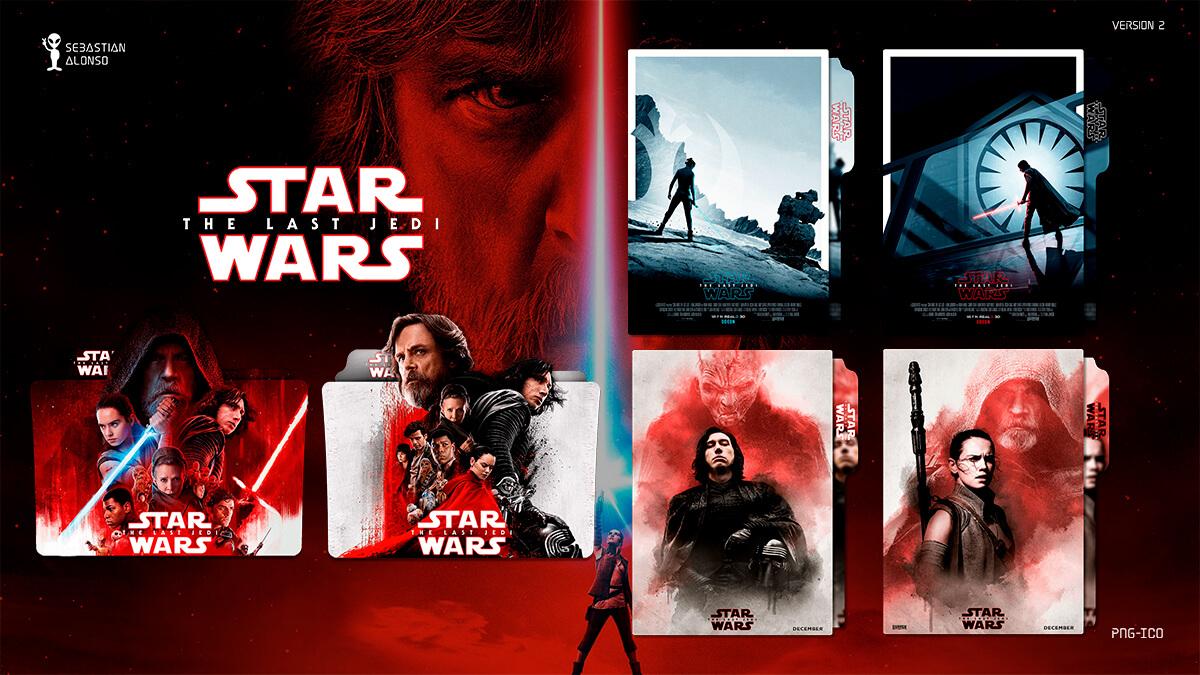 The Last Jedi (2017)  Folder Icon #2 by sebasmgsse