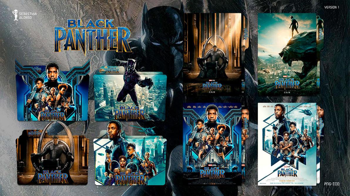 Black Panther (2018) Folder Icon #1 by sebasmgsse