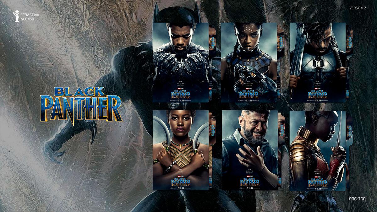 Black Panther (2018) Folder Icon #2 by sebasmgsse