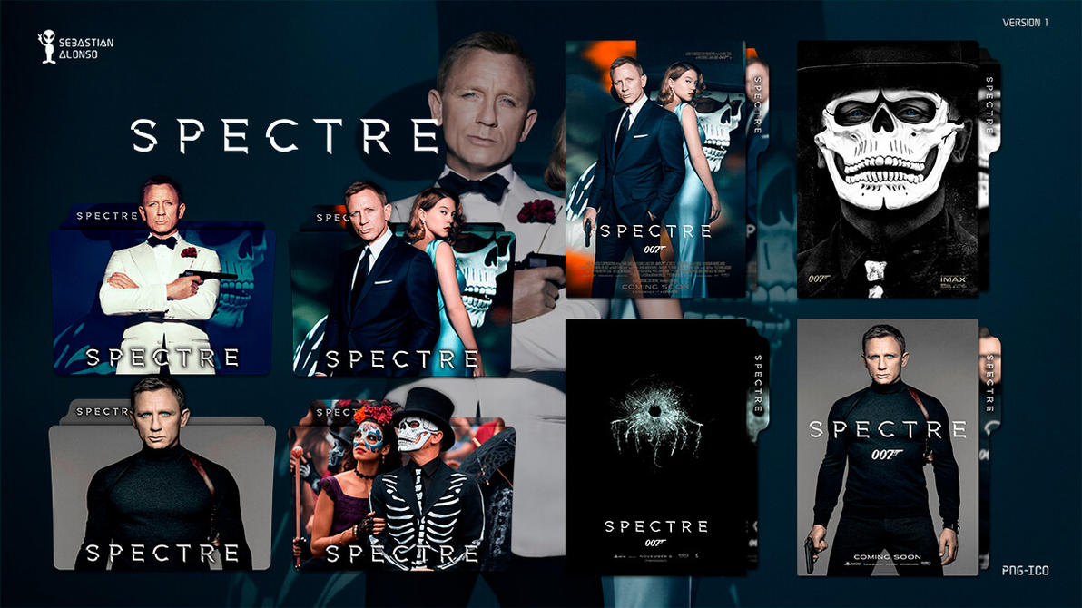 007 Spectre (2015) Folder Icon #1 by sebasmgsse