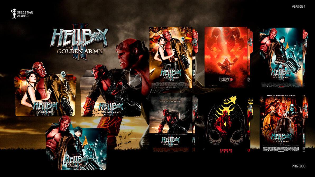 Hellboy II The Golden Army (2008) Folder Icon #1 by sebasmgsse