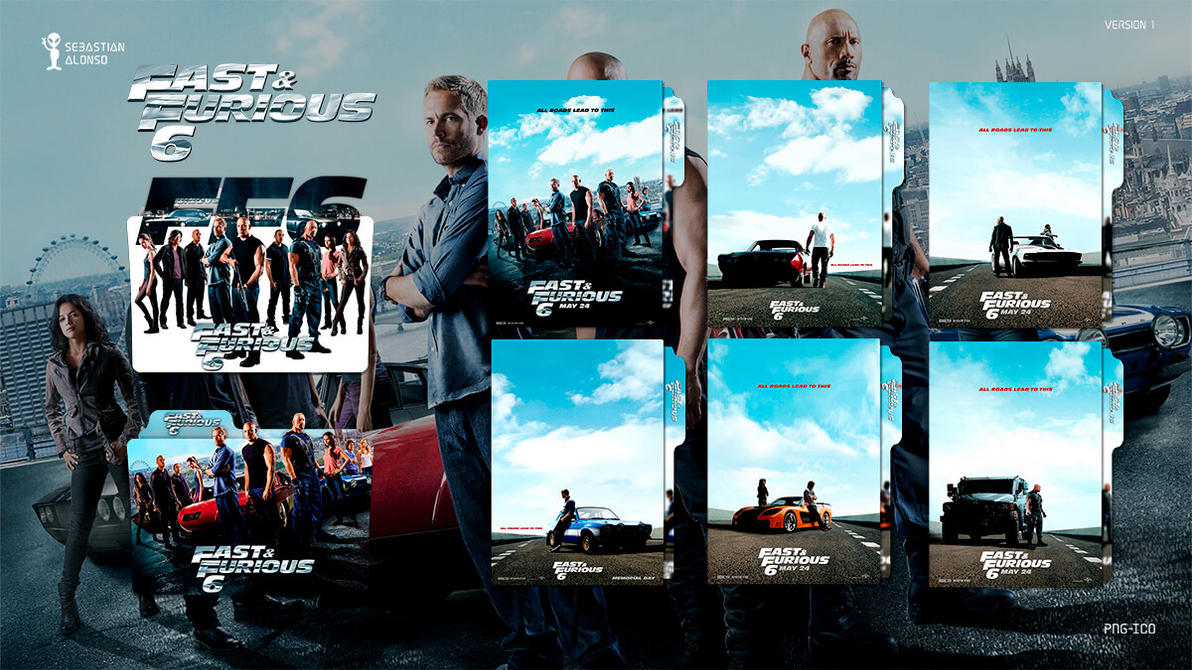 Fast and Furious 6 (2013) Folder Icon by sebasmgsse