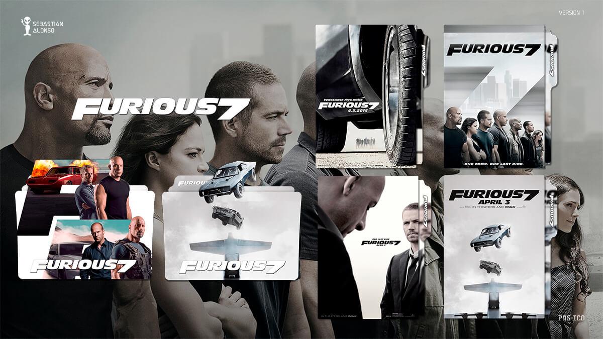Furious 7 (2015) Folder Icon by sebasmgsse