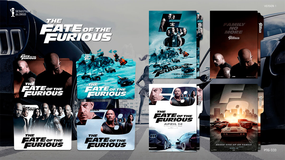 The Fate of the Furious (2017) Folder Icon by sebasmgsse