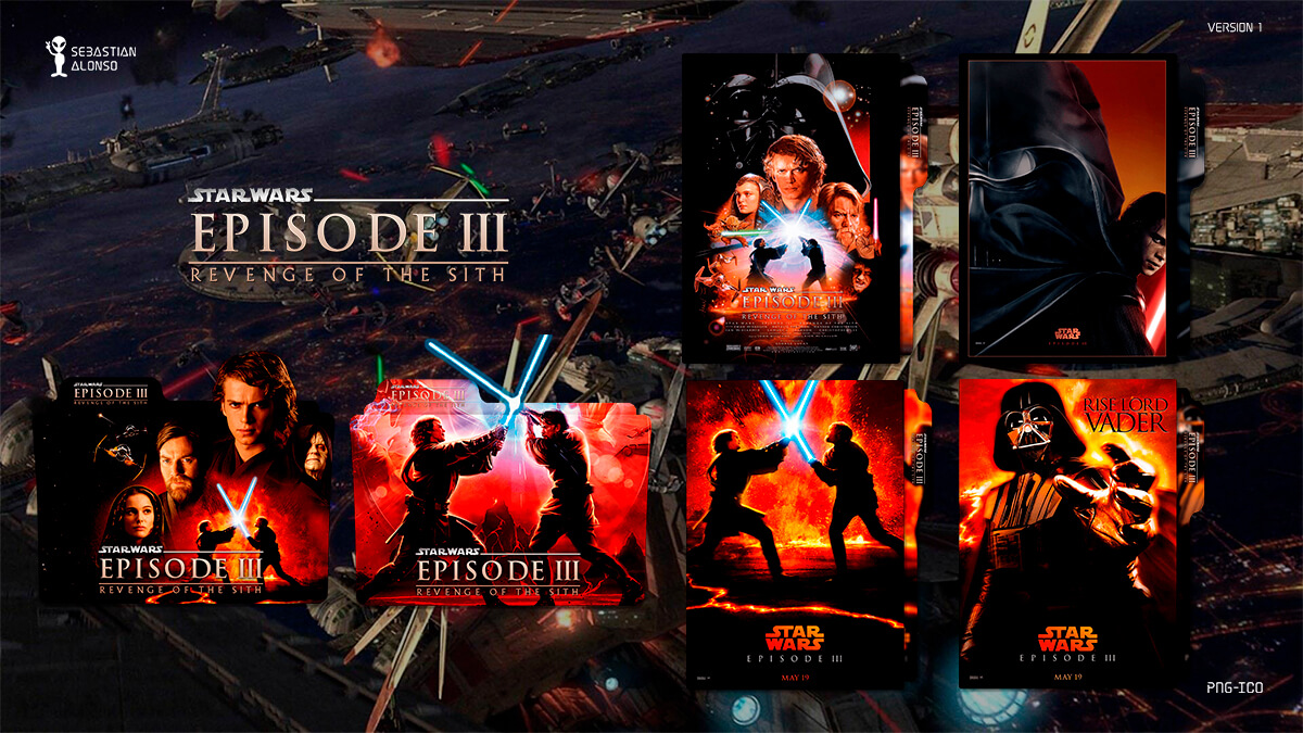 Revenge of the Sith (2005) Folder Icon #1 by sebasmgsse