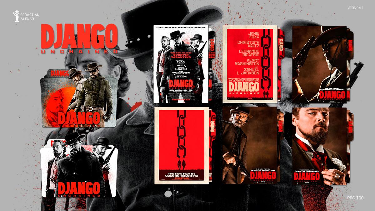 Django Unchained (2012) Folder Icon by sebasmgsse