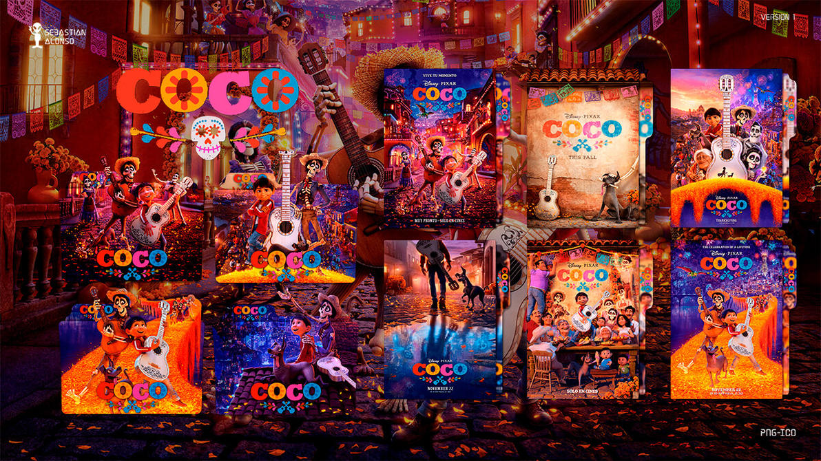 Coco (2017) Folder Icon #1 by sebasmgsse