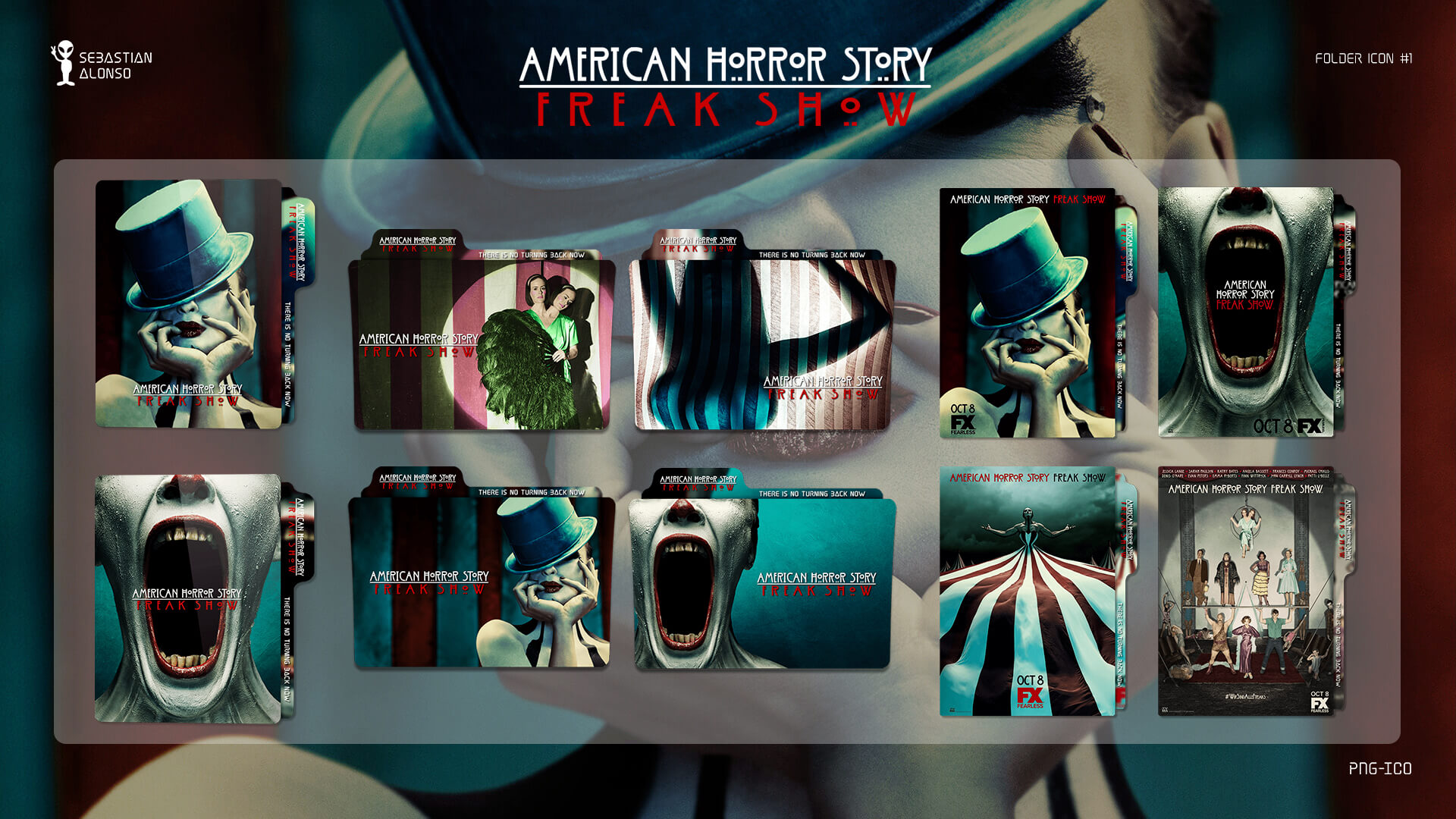 American Horror Story Freak Show Folder Icon 1 By Sebasmgsse On