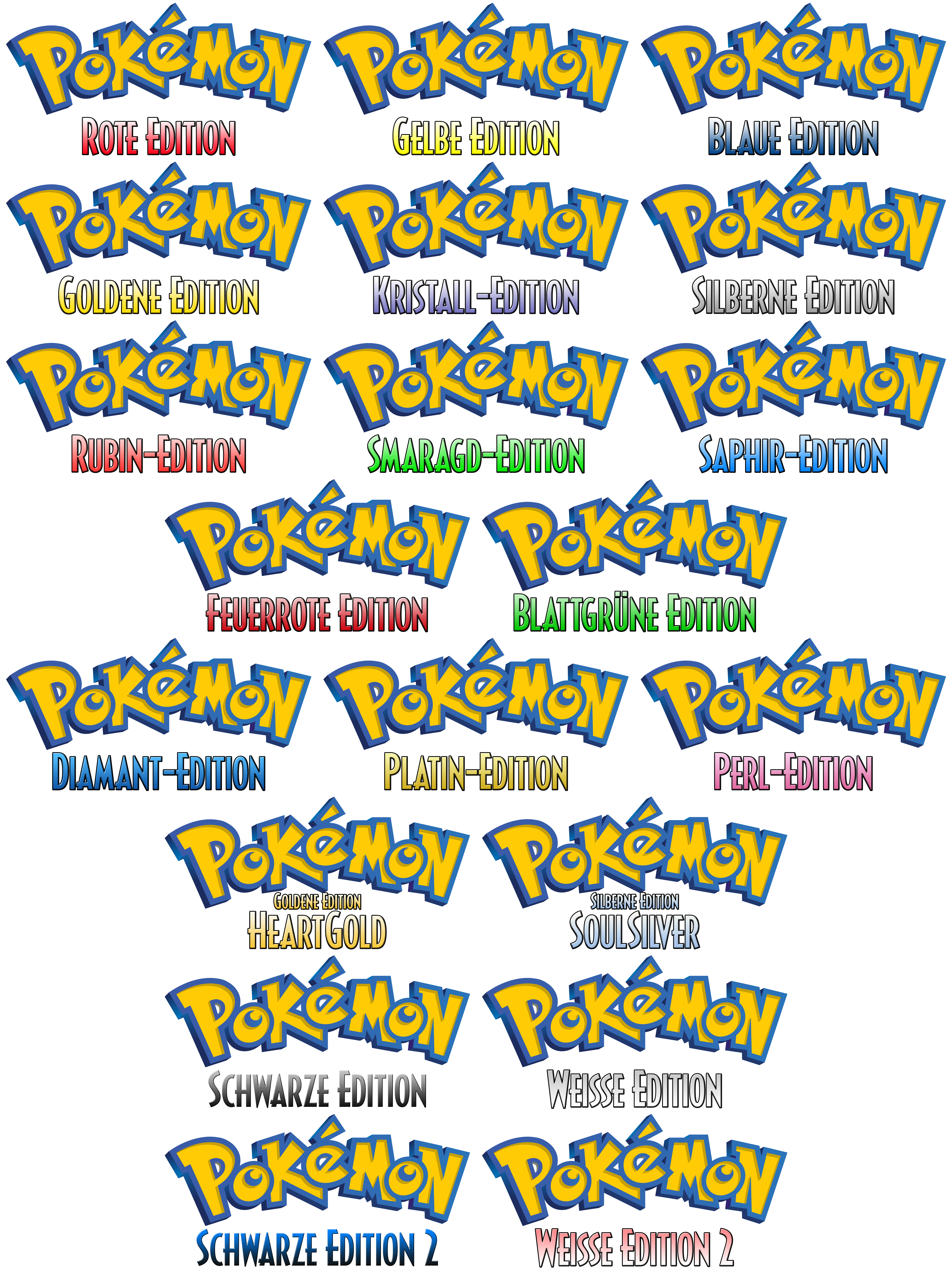 Logo Pokemon Gen 1 5 Ger Custom 599790649