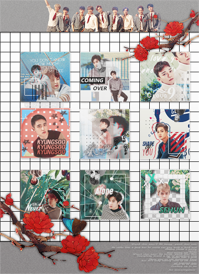 [SHARE PSD] 5th Anniversary #ICON SET @EXO by SuzyKimJaeXi