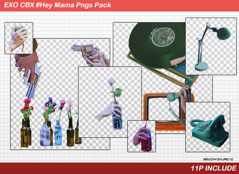 [SHARE PNGs] CBX #Hey Mama Pngs Pack @EXO by SuzyKimJaeXi