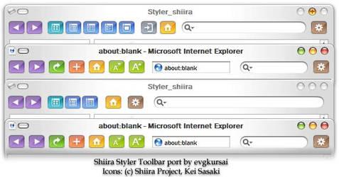 Shiira Toolbar for StylerTB by evgkursai