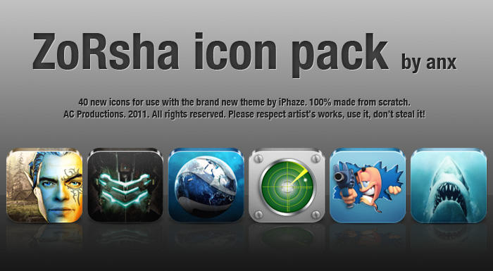 Zorsha ICON PACK 1 by ANX by anxanx