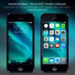 Aurora at Dawn - iPhone 5/5S iOS7 Wallpaper