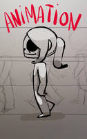 walking animation by kadjura