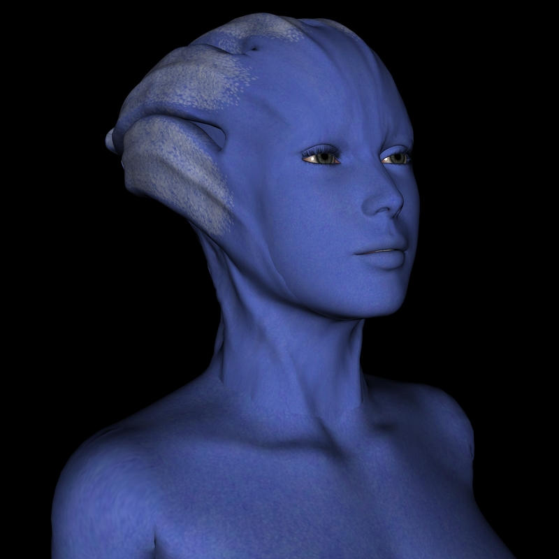 Asari skin and head textures by mememo